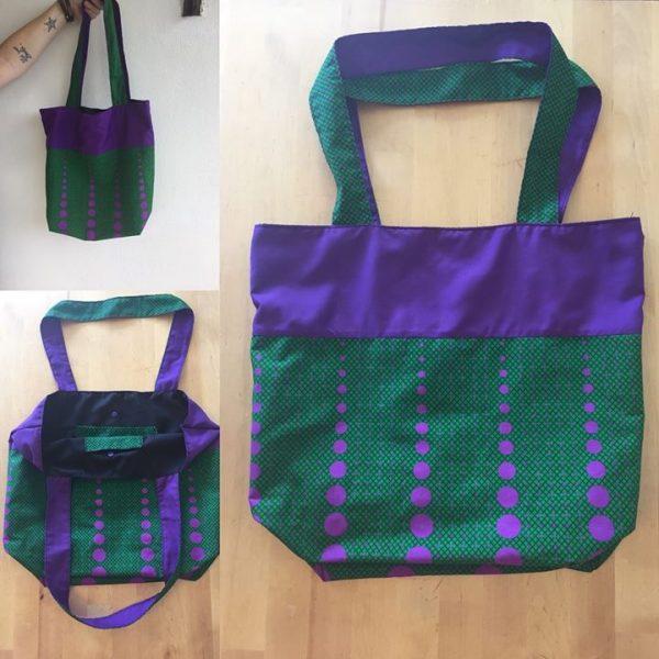 wax, violet, vert, coton, sac