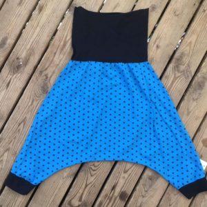 Maman cactus, fait main, saroual, confortable, jersey, coton,stylé, look, tendance, étoiles marines, bleu marine, bleu électrique