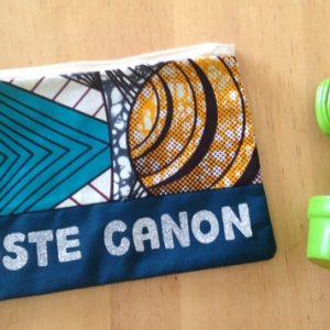 pochette, maman cactus, classe, fait main, cousu main, indémodable, message, rigolote, nana au top, wax, zippée