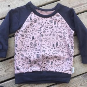 tatoo, old school, rose, anthracite, manche raglan, sweat, sweat-shirt, confortable, rigolo, chaud, agréable, raglan, jersey,