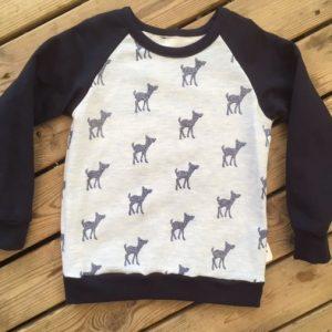 bambi, glitter, marine, manche raglan, sweat, sweat-shirt, confortable, rigolo, chaud, agréable, raglan, jersey,