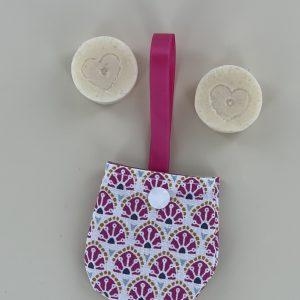 sac à savon nomade, nomade, martinique, main,biologique, ecologique, savon, hand made, fait main, voyage, transport, zéro déchet,